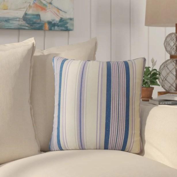 Imala Striped Down Filled 100% Cotton Throw Pillow Size: 24