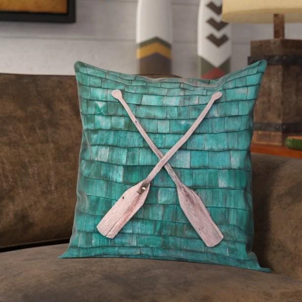 Brushton Rustic Oars 100% Cotton Pillow Cover Size: 16