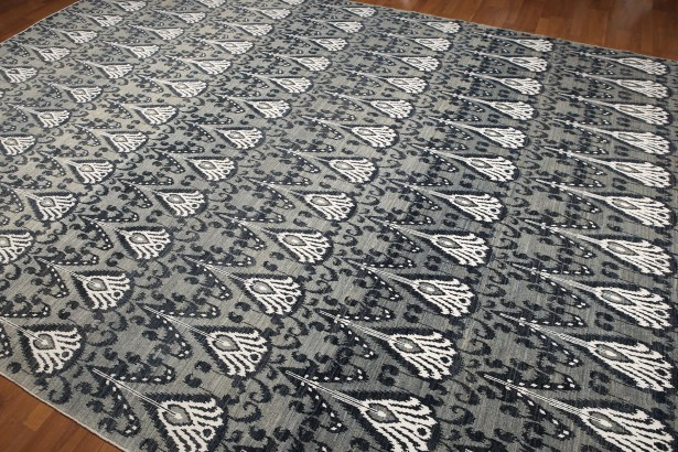 One-of-a-Kind Halleck Hand-Knotted Wool Gray/Blue Area Rug