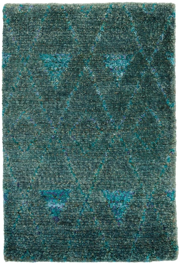 Emerald Hand-Woven Blue Area Rug Rug Size: Rectangle 2' x 3'