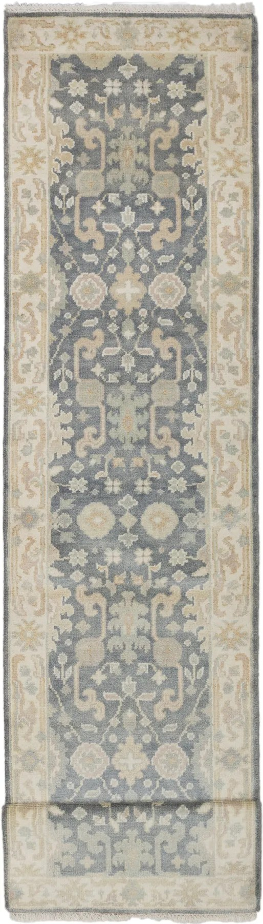 One-of-a-Kind Doggett Hand-Knotted Wool Gray Area Rug