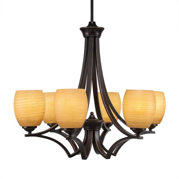 Couto 6-Light Shaded Chandelier Shade Color: Cayenne