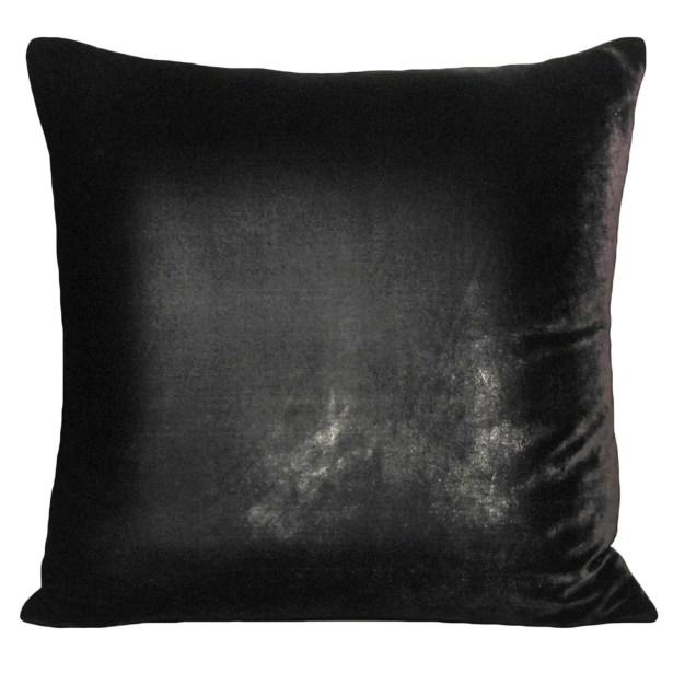 Ombre Velvet Throw Pillow Color: Smoke