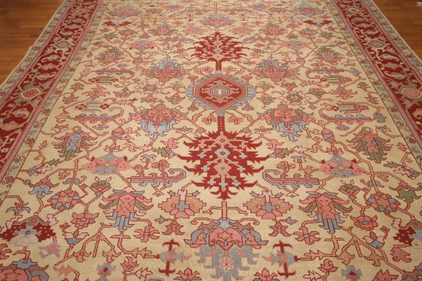 One-of-a-Kind Replogle Hand-Knotted Wool Beige/Rust Area Rug
