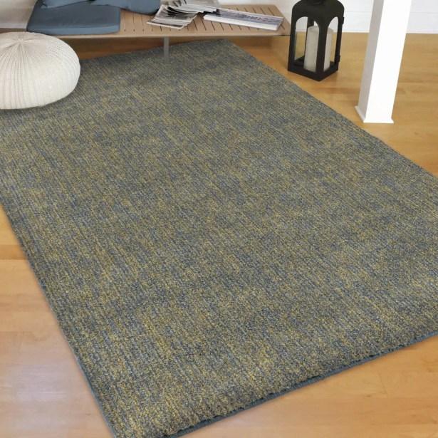 Castrejon Solid Design Blue/Green Area Rug Size: Rectangle 9' x 13'