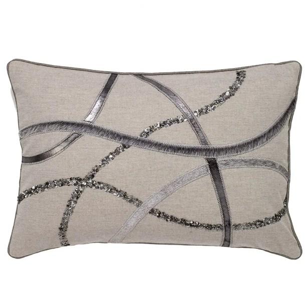 Haugen Hide Wavy Stripe Pillow Cover