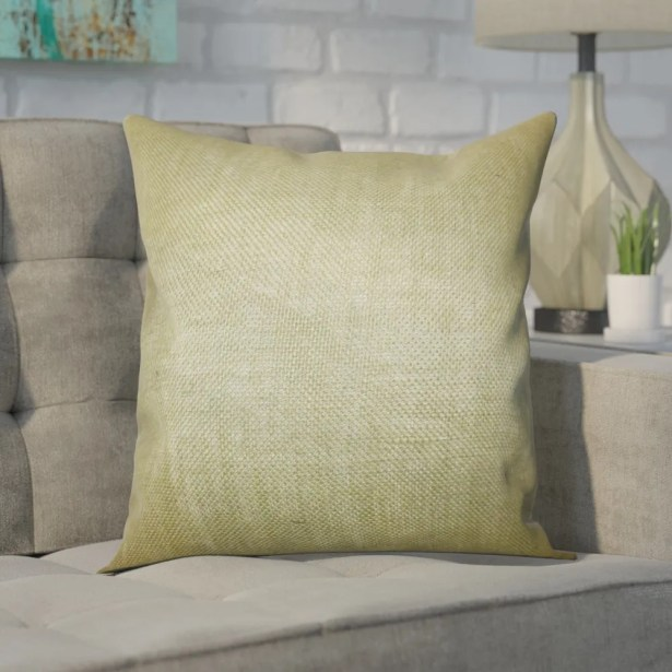 Portsmouth Solid Burlap Throw Pillow Color: Moss Green, Size: 18