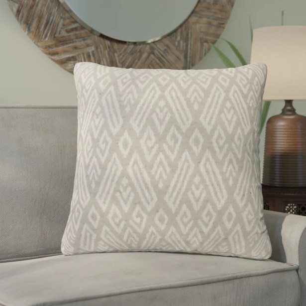 Benahid Contemporary Throw Pillow Color: Beige, Size: 22