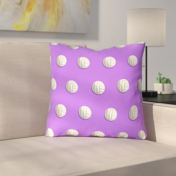 Volleyball 100% Cotton Throw Pillow Size: 20