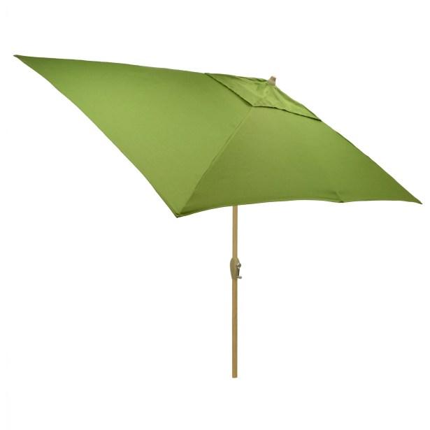 Hulme Solid 6.5' x 10' Rectangular Market Umbrella Fabric Color: Green