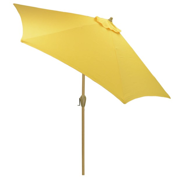 Hulme Solid 8.9' Market Umbrella Fabric Color: Yellow