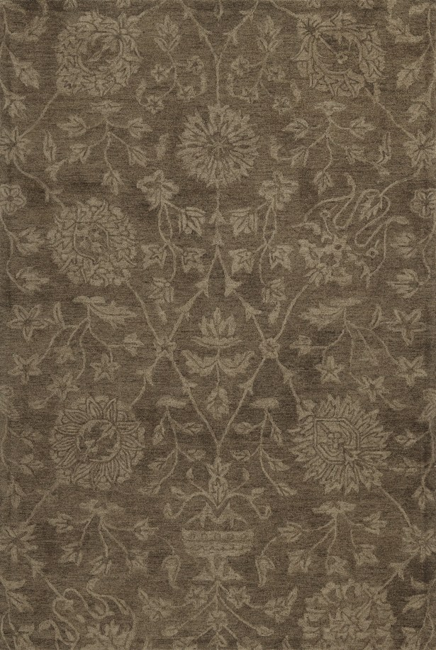 Chatmon Hand-Tufted Wool Mocha Area Rug Rug Size: Rectangle 8' x 10'