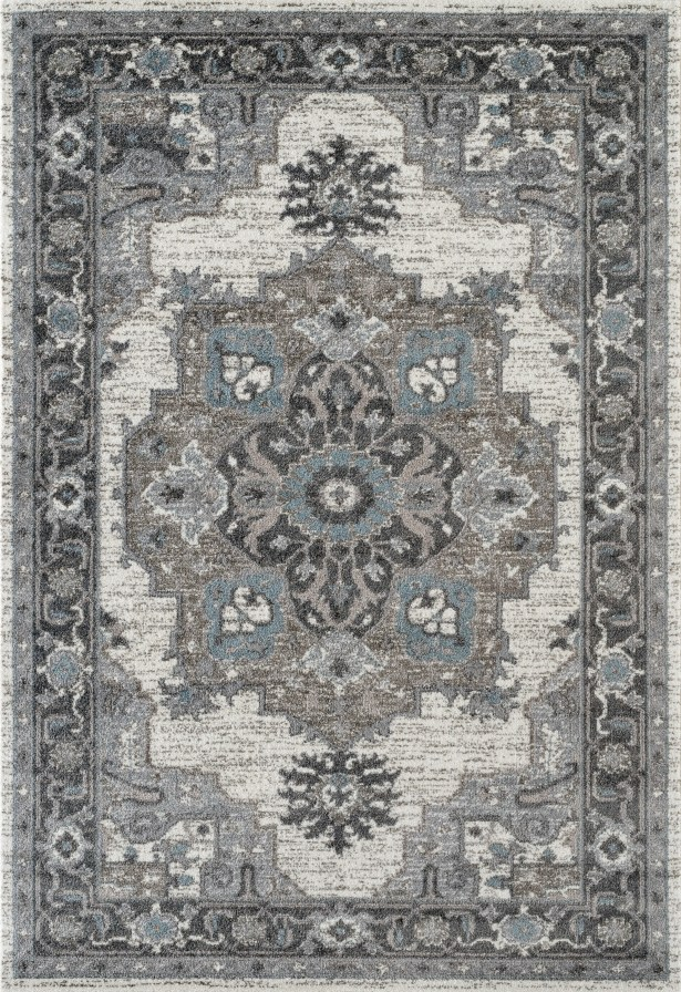 Honig Transitional Gray Area Rug Rug Size: Rectangle 4' x 6'