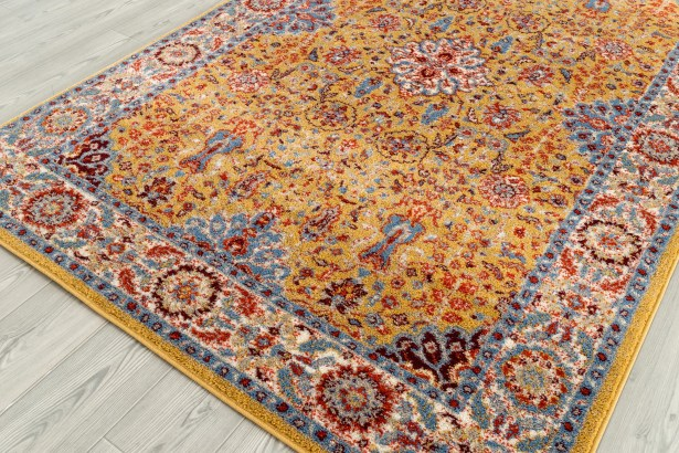 Parrett Transitional Yellow Area Rug Rug Size: Rectangle 8'9