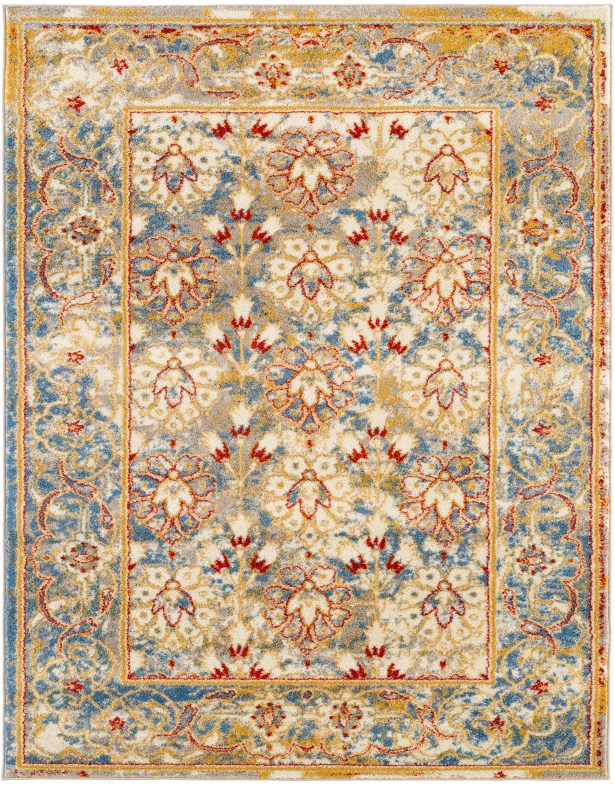Parrett Transitional Ivory Area Rug Rug Size: Rectangle 5'1