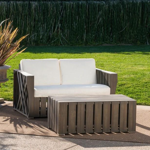 Winkelman 2 Piece Conversation Set with Cushions Frame Color: Gray