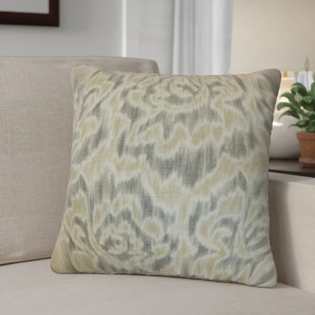 Arsenault Throw Pillow Color: Sand, Size: 22