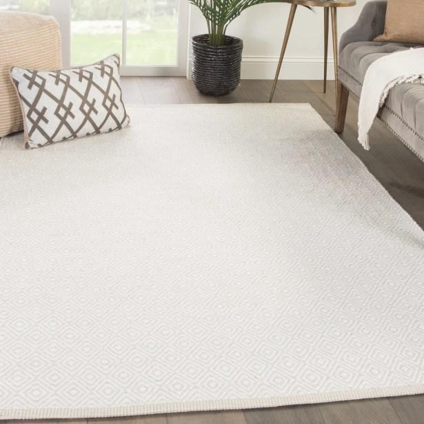 Majeski Hand-Woven Wool Marshmallow/Chateau Gray Area Rug Rug Size: Rectangle 5' x 8'