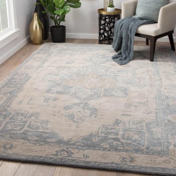 Lafave Hand-Tufted Gray Morn/Steeple Gray Area Rug Rug Size: Rectangle 9' x 12'