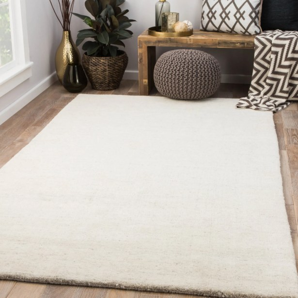 Flemingdon Hand-Woven Wool Ivory Area Rug Rug Size: Rectangle 5' x 8'