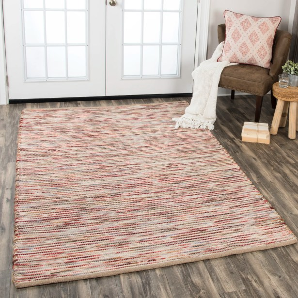 Holler Hand-Woven Wool Red Area Rug Rug Size: Rectangle 3'6