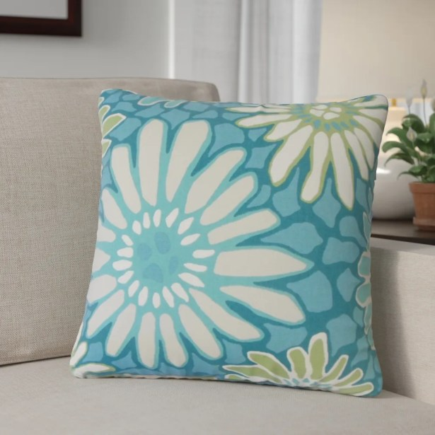 Calvary Floral Down Filled 100% Cotton Throw Pillow Size: 24