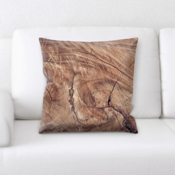 St James Wooden Textures Throw Pillow