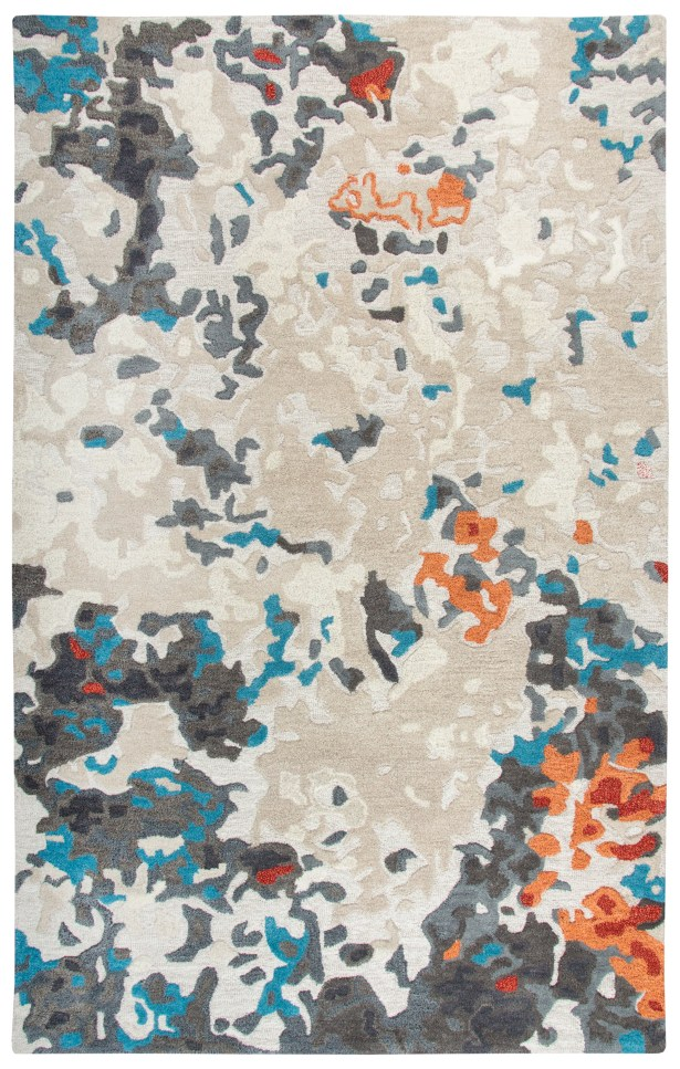 Greco Hand-Tufted Wool Beige Area Rug Rug Size: Rectangle 5' x 8'