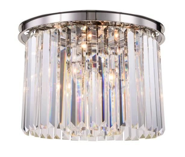 Lavinia 6-Light Flush Mount Shade Color: Clear, Fixture Finish: Polished Nickel