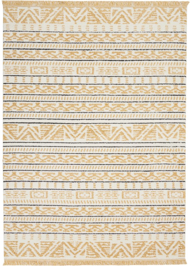 Penwell Yellow Area Rug Rug Size: Rectangle 5'3