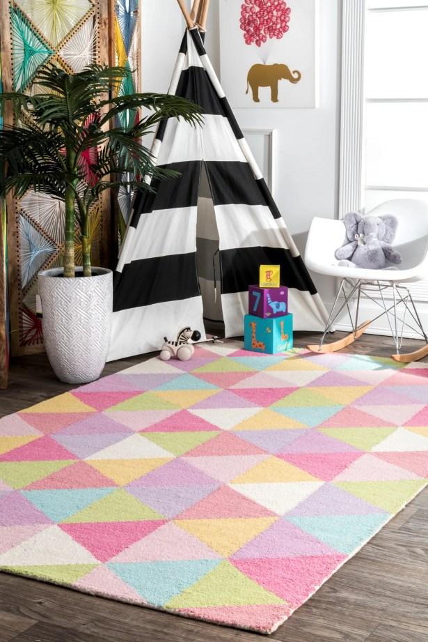 Doughton Hand-Hooked Wool Pink/Yellow Area Rug Rug Size: Rectangle 4' x 6'