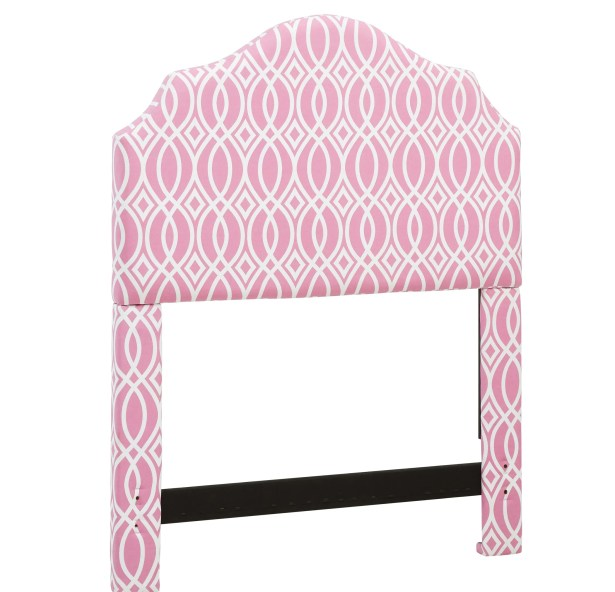Feltman Upholstered Panel Headboard Color: Pink, Size: Twin