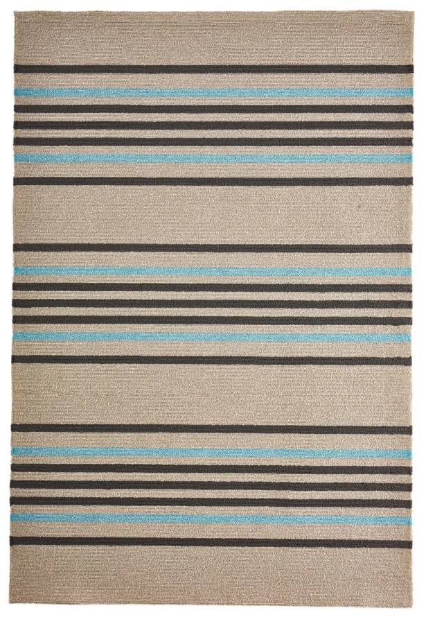 Enoch Stripe Hand-Woven Indoor/Outdoor Area Rug Rug Size: Rectangle 5' x 7'6