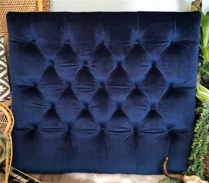 Honig Diamond Tufted Twin/Twin XL Upholstered�Panel Headboard Upholstery: Navy