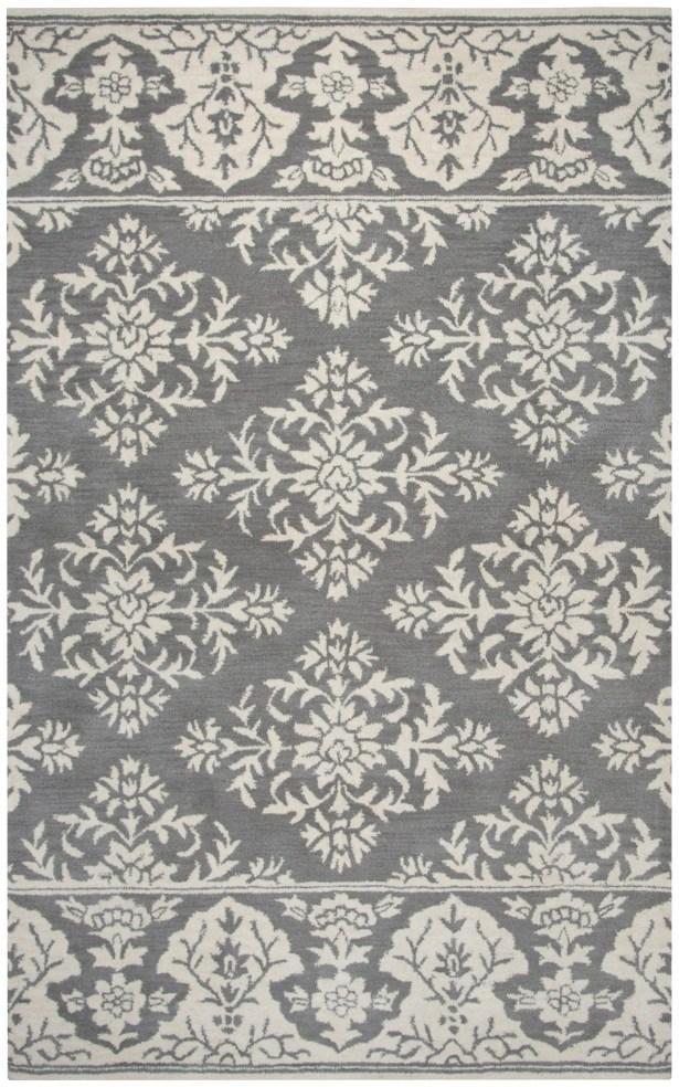 Hulme Hand-Tufted Wool Gray Area Rug Rug Size: Rectangle 8' x 10'