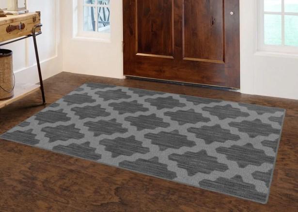 Flanary Ikat Moroccan Trellis, Lattice Gray Area Rug Rug Size: Rectangle 7'6