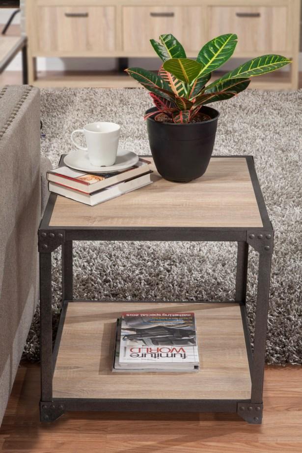 Lindell Loft End Table Color: White Oak