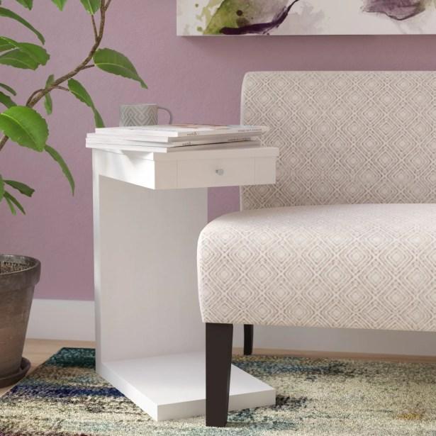 Waneta End Table Color: White