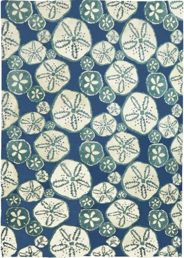 Nhung Sand Dollars Blue Area Rug Rug Size: Rectangle 5' x 7'