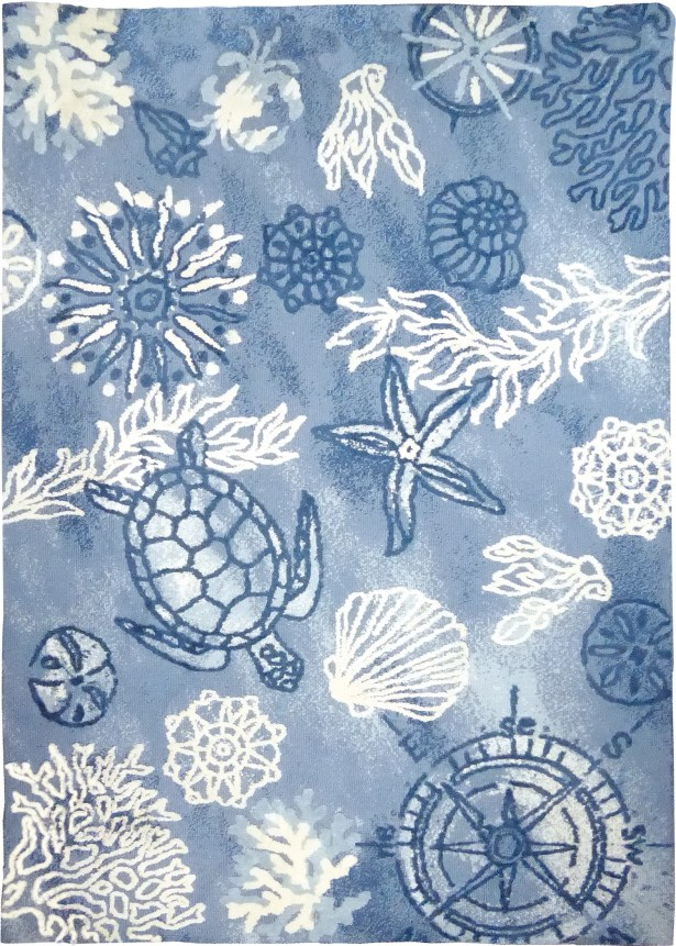 Tam Oceania Blue Area Rug Rug Size: Rectangle 8' x 10'