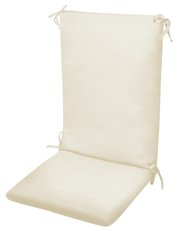 High Back Indoor/Outdoor Dining Chair Cushion Fabric: Natural