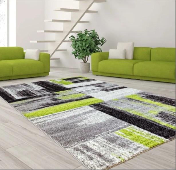 Croskey Abstract Green/Gray Area Rug Rug Size: Rectangle 6'3