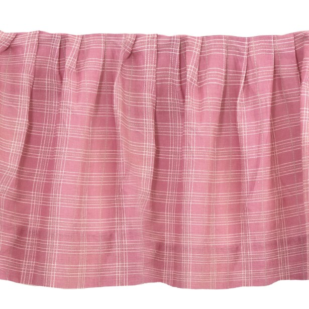 Hensel Plaid 150 Thread Count Bed Skirt Size: Queen