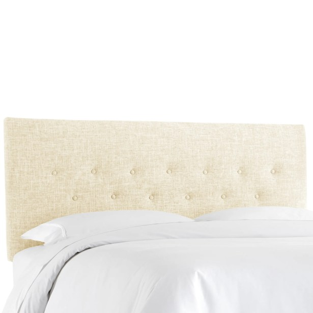 Cimino Button Upholstered Panel Headboard Size: Full, Color: Zuma White
