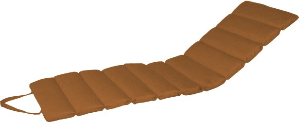 Channeled Indoor/Outdoor Sunbrella Chaise Lounge Cushion Fabric: Sierra