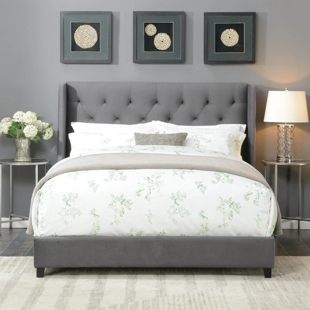 Lawing Queen Upholstered Platform Bed Color: Charcoal