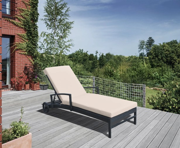 Hathaway Reclining Chaise Lounge with Cushion