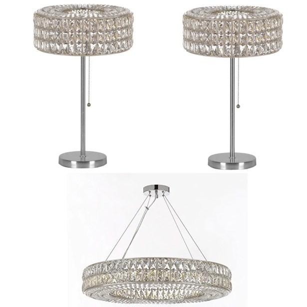 Royalton 3 Piece Ring Crystal 12-Light Chandelier