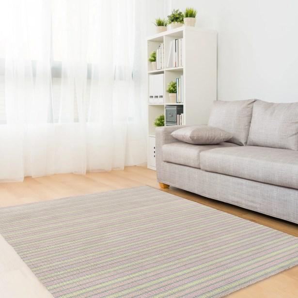 Hedman Pink/Gray Area Rug Rug Size: Rectangle 5' x 7'