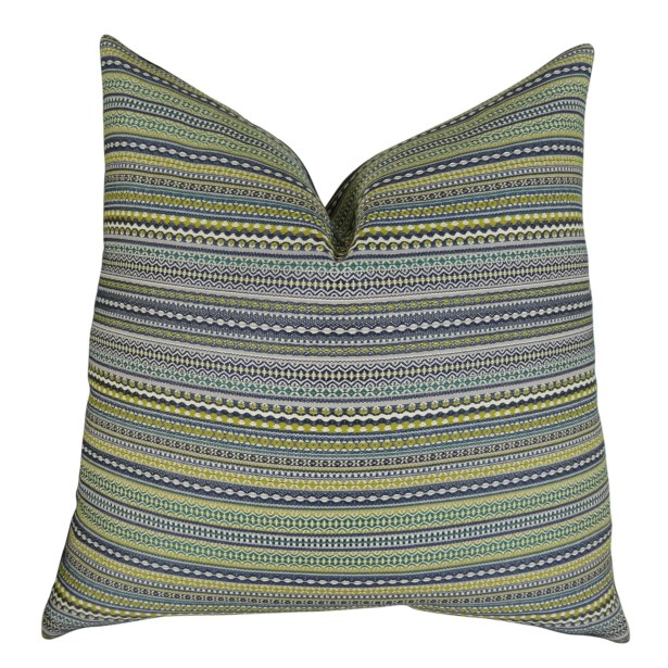 Lemuel Stripe Chartreuse Pillow Fill Material: 95/5 Feather/Down, Size: 18